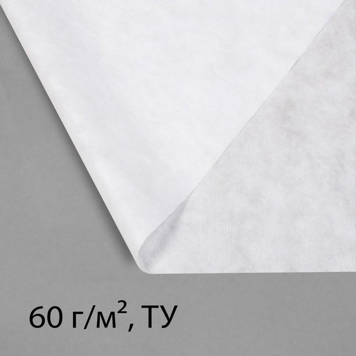 Материал укрывной, 2,1 × 10 м, плотность 60, с УФ-стабилизатором, белый, Greengo, Эконом 20%