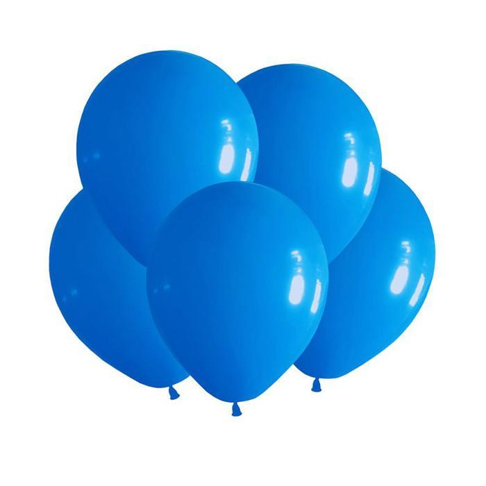 """Шар латексный 12"""", пастель, набор 100 шт., цвет голубой - фото 953213"""