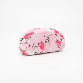 Футляр для очков, отдел на клапане, цвет розовый