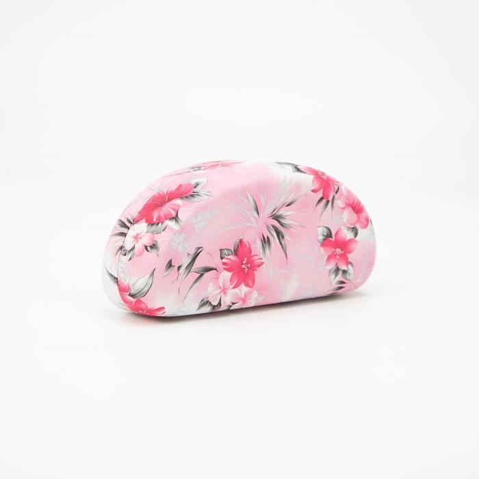 Футляр для очков, отдел на клапане, цвет розовый - фото 798474058