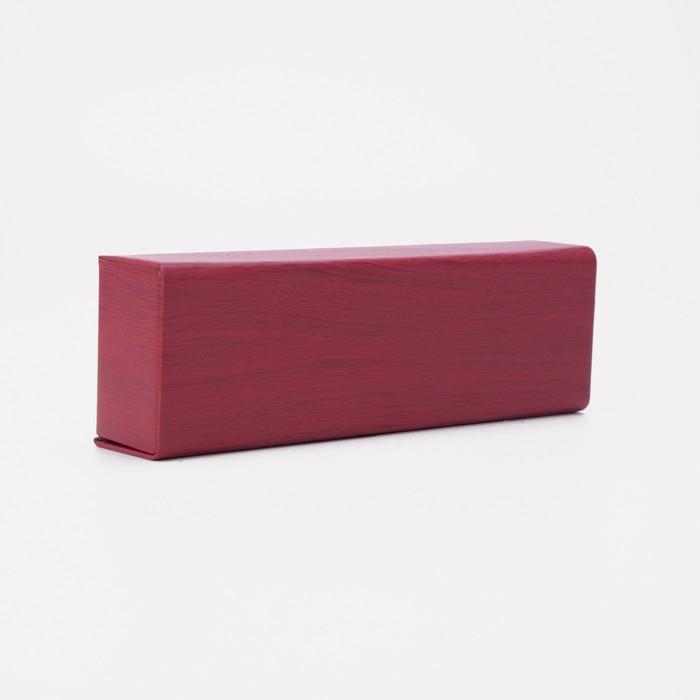 Футляр для очков, отдел на клапане, цвет красный - фото 798474092