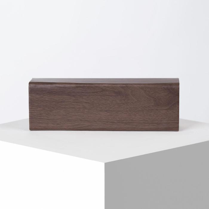 Футляр для очков, отдел на клапане, цвет коричневый - фото 798474095