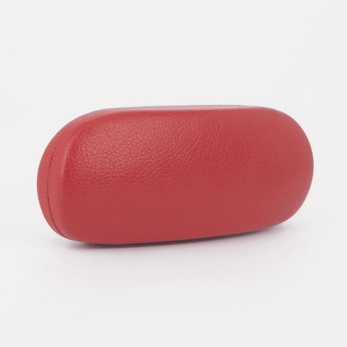 Футляр для очков, отдел на клапане, цвет красный - фото 798474111