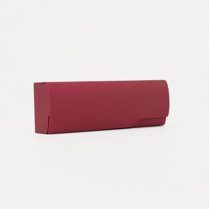 Футляр для очков, отдел на клапане, цвет красный - фото 798474135