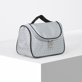 Cosmetic bag-purse, Department zip, color grey