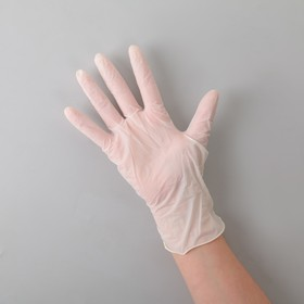 Перчатки латексные опудренные, размер M, 100 шт/уп, 10,8 гр