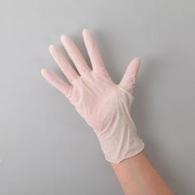 Перчатки латексные опудренные, размер L, 100 шт/уп, 10,8 гр