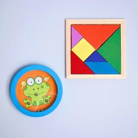 Развивающий набор 2 предмета: танграм, головоломка МИКС
