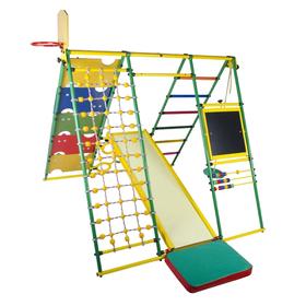 ДСК «Вершинка 2.0 W плюс», 1640 × 1480 × 1540 мм, цвет зелёный/радуга