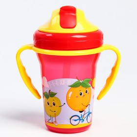 "Feeding Cup with a straw ""Fruit party"" 340 ml."