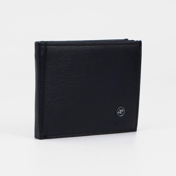 Портмоне мужское, 1 отдел, цвет чёрный - фото 798474876