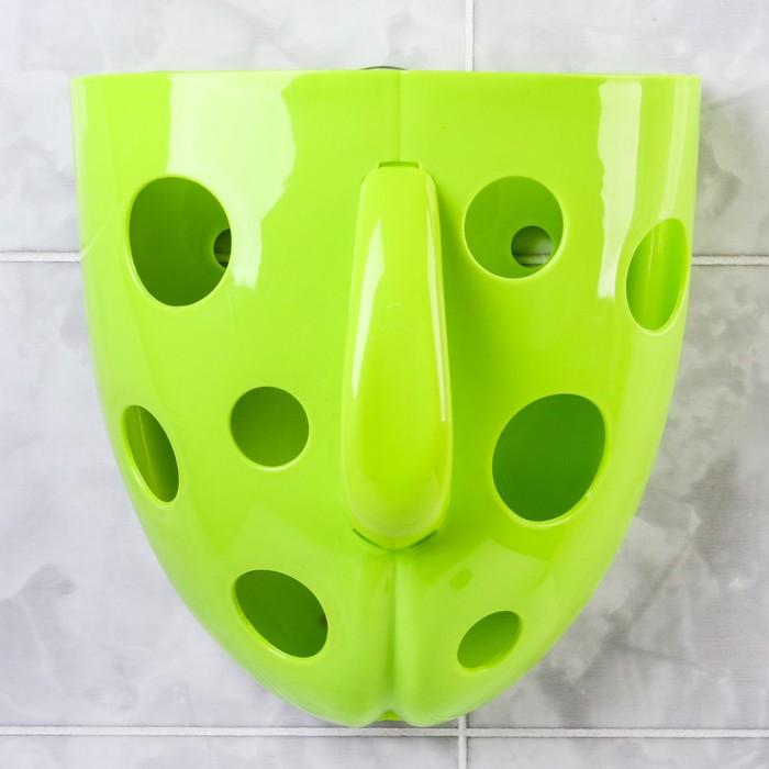 Контейнер для хранения игрушек в ванной, цвет зеленый