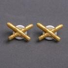 Emblem of Artillery gold color,couple,metal