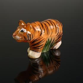 Сувенир «Тигр идущий», селенит в Донецке