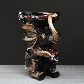 """Подставка напольная """"Слон"""" виноград, черный, 42 см"""