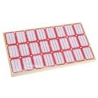 Набор 60 листов ценники самоклеящиеся 24*35 мм 24 штук на 1 листе