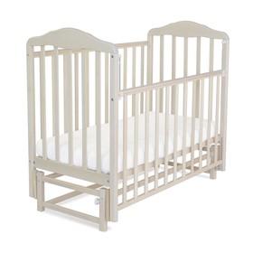Кровать детская Берёзка с маятником (автостенка, прод.маятник, накладка ПВХ, береза снежная)