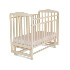 Кровать детская Митенька с маятником (опуск.планка, береза снежная)