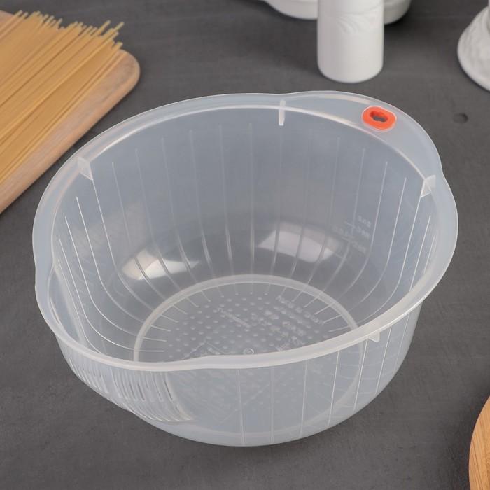 Дуршлаг d=22 см, мелкая сетка, цвет прозрачный