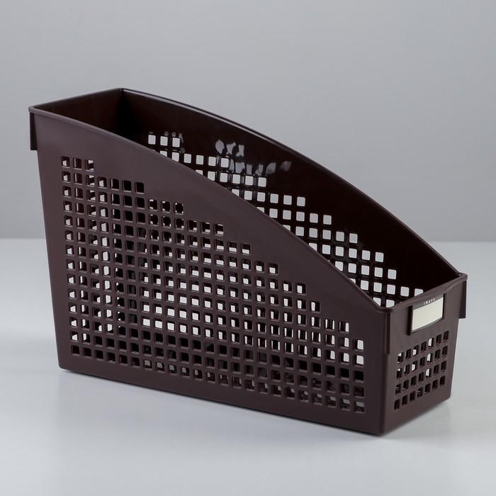 Корзина 10,4×27,1×17,8 см, цвет шоколадный