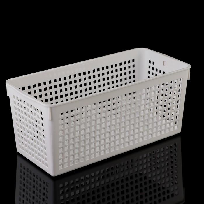 Корзина 13,3×29,1×12,5 см, цвет белый