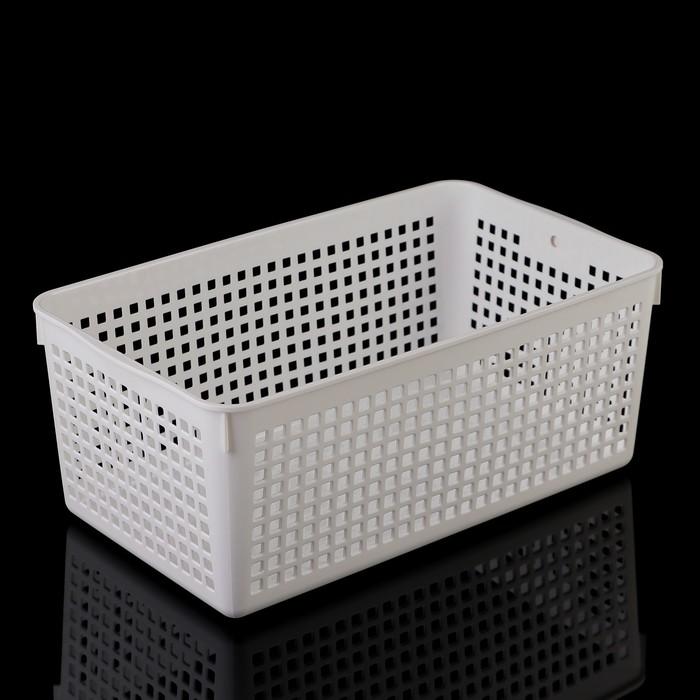 Корзина 16,8×29×11,8 см, цвет белый
