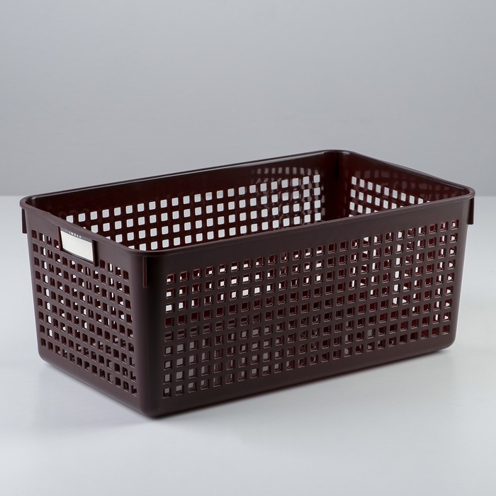 Корзина 16,8×29×11,8 см, цвет шоколадный