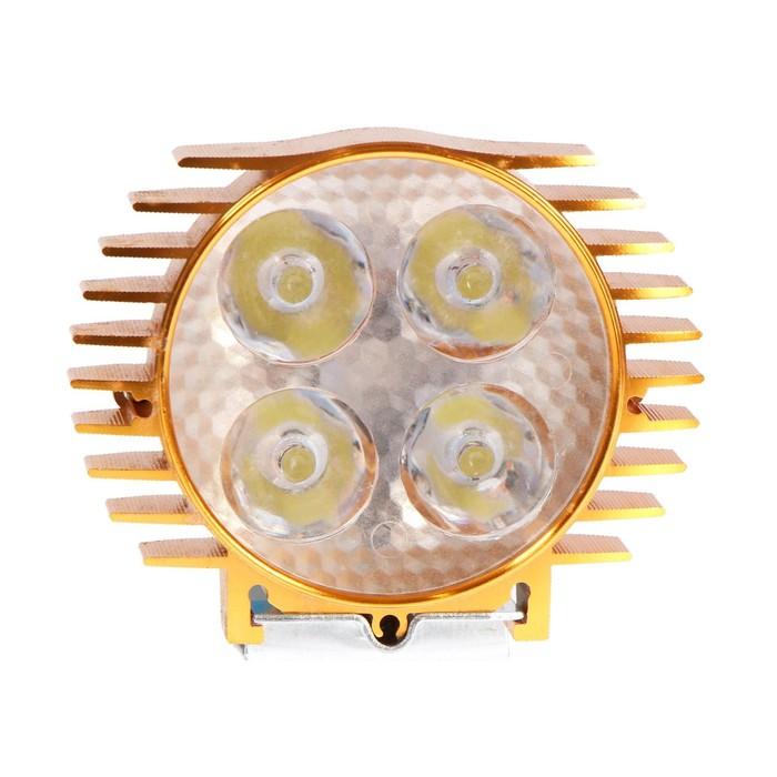 Фара cветодиодная для мототехники, 4 LED, IP65, 4 Вт, направленный свет - фото 798475792