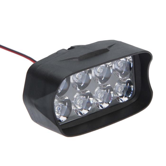 Фара cветодиодная для мототехники, 8 LED, IP67, 8 Вт, направленный свет