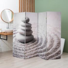 """Ширма """"Камни на песке"""", двухсторонняя, 200 × 160 см"""