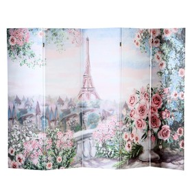 """Ширма """"Картина маслом. Розы и Париж"""", 250 × 160 см"""