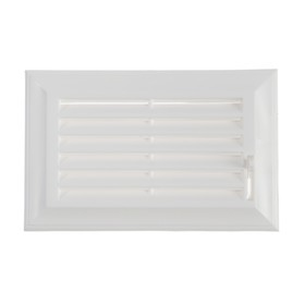 End grille VENTS 572, 137 x 88 mm, blinds, plastic, white
