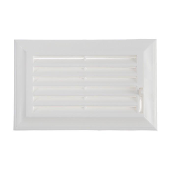 Решетка торцевая VENTS 572, 137 х 88 мм, жалюзи, пластик, белый