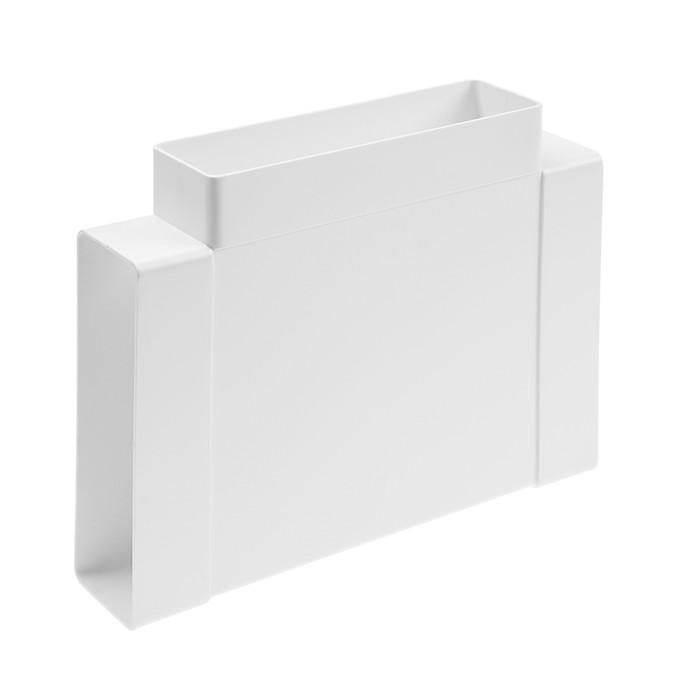 Тройник VENTS 838, горизонтальный,  204 х 60 мм, пластик