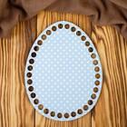 """Заготовка для вязания """"Яйцо. В белый горох"""" 14х18см"""