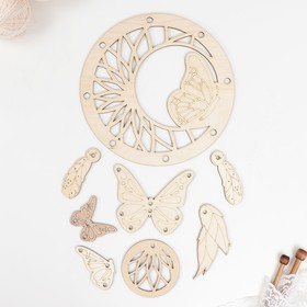 """A pattern for knitting """"the dream Catcher. Butterfly"""" (set 8 items) plywood 3mm 22x22 cm"""