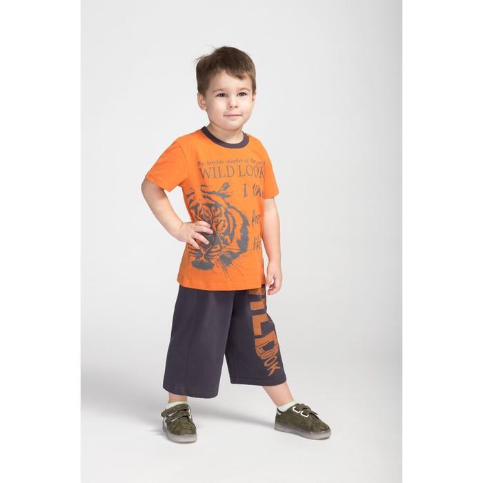 Комплект для мальчика, цвет оранжевый/серый, рост 104 см (56)