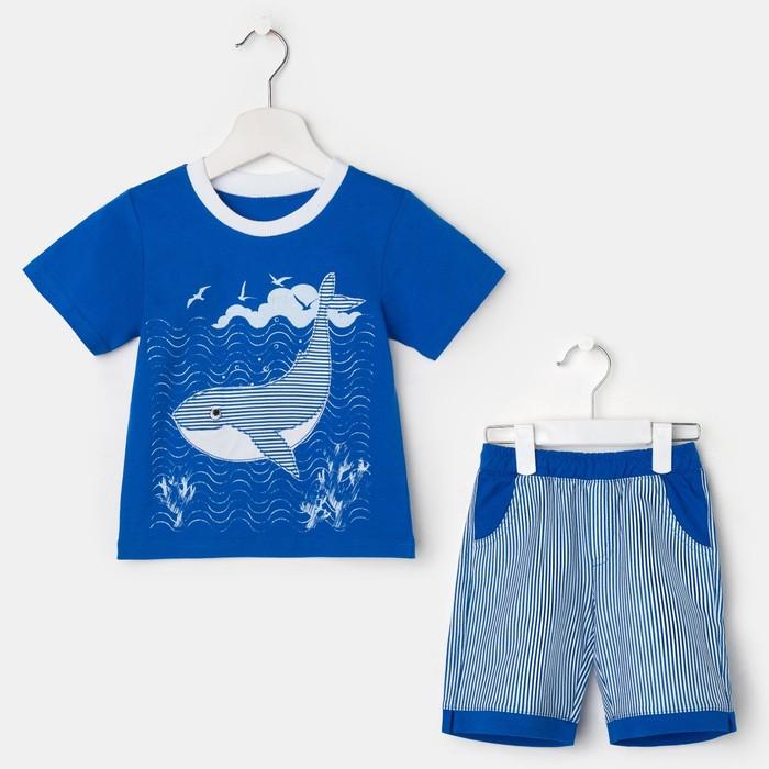 Комплект для мальчика, цвет синий, рост 104 см (56)