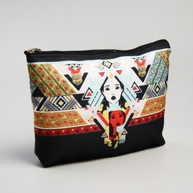 Cosmetic bag simple Tribe, 20*1*12cm, otd zipper, no padding