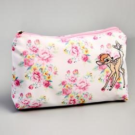 The cosmetic bag is simple-08 Bambi, 23*7*13cm, otd zipper, no padding