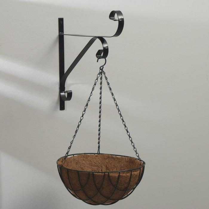 Кашпо подвесное, d = 30 см, с кокосовым вкладышем