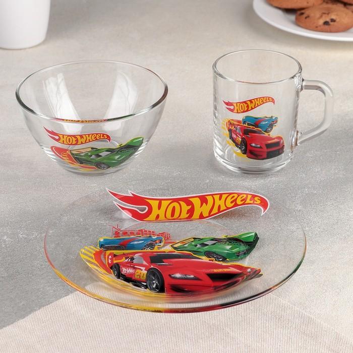 Набор посуды детский «Хот Вилс», 3 предмета