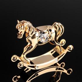 Сувенир «Лошадка», 7,5х8х2,5 см, с кристаллами Сваровски