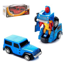 Робот-трансформер «Джип», световые и звуковые эффекты, работает от батареек, цвета МИКС