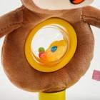 Развивающая игрушка погремушка мягкая «Обезьянка», на присоске - фото 105528411