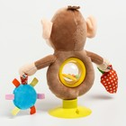 Развивающая игрушка погремушка мягкая «Обезьянка», на присоске - фото 105528412