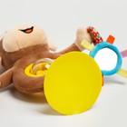 Развивающая игрушка погремушка мягкая «Обезьянка», на присоске - фото 105528413