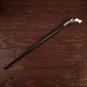 Сувенирное изделие Трость с револьвером, клинок 30см