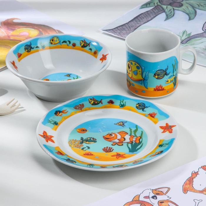 Набор посуды «Подводный мир», 3 предмета, ф. «Идиллия»