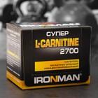 Супер L-карнитин 2700 IRONMAN, лимон-лайм, 12 ампул/60 мл